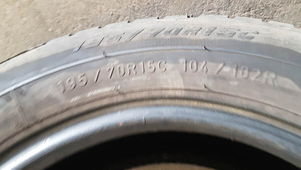 One Goodyear 195/70R15 Tyre 1